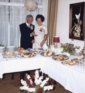 Emmy's parents at their 25th wedding anniversary