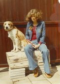 Emmy with her dog Zomby in 1973